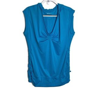 Zella Workout Fitness Vented Sleeveless Hoodie